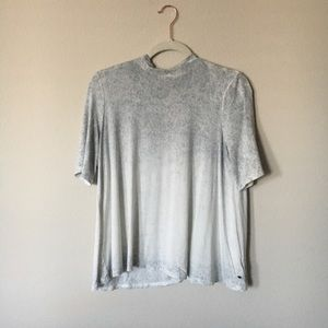 AEO Grey & White Ombré Burnout Tee Size M